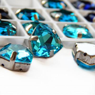 Триллианты Sea blue 12 мм
