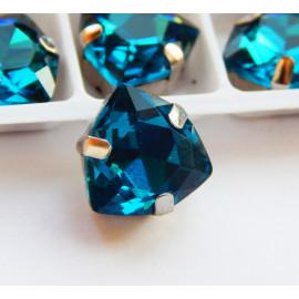 Триллианты Peacock blue 12 мм