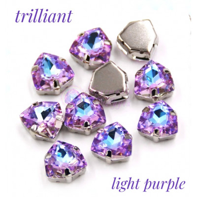Триллианты Light purple 12 мм