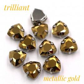 Триллианты Metallic gold 12 мм