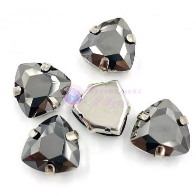 Триллианты Metallic black 12 мм
