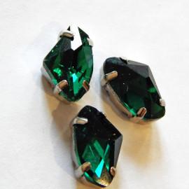 Стразы бриль 9x14 Malachite green