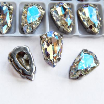 Стразы Щит Crystal moonlight 9x14 мм