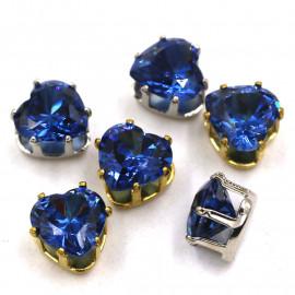 Сердце Циркон 8 мм Royal blue