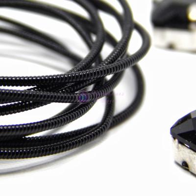 Канитель жесткая Черная 1мм, 1,2 мм 5гр