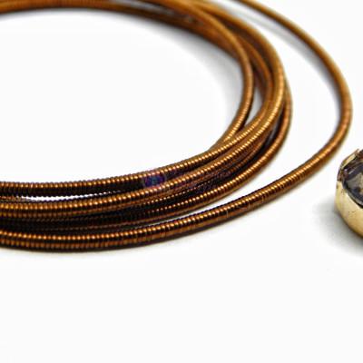Канитель жесткая Темно-коричневая 1,2 мм 5гр