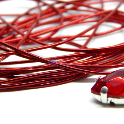 Канитель мягкая Красная 1,0 мм 5гр