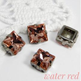 Квадраты Water red 8 мм, 10 мм