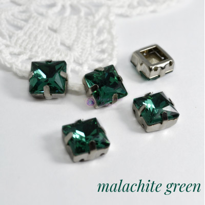 Квадраты Malachite green 8 мм, 10 мм
