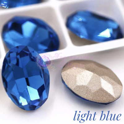 Овалы в цапе Light blue 10x14,13x18