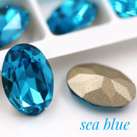Овалы в цапе Sea blue 10x14,13x18
