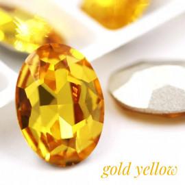 Овалы в цапе Gold yellow 10x14,13x18