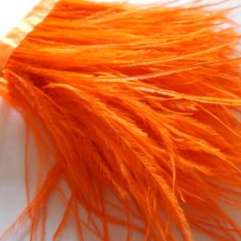 Страусиные перья на ленте Оранжевые 8-11 см