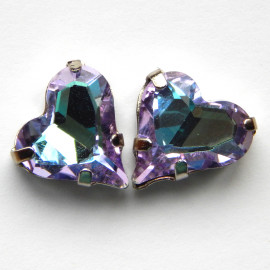 Сердце Purple light 12x13 mm