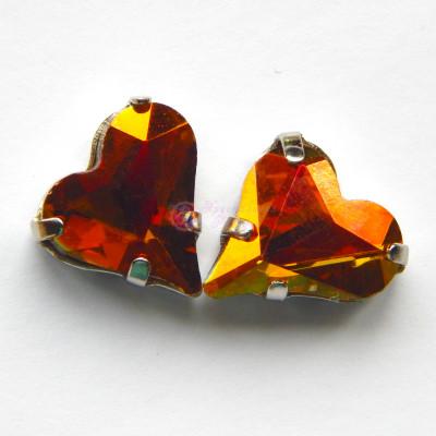 Сердце Crystal copper 12x13 mm