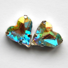 Сердце Crystal AB 12x13 mm