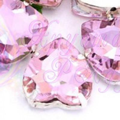 Сердце 8 мм Pink
