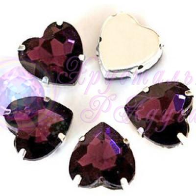 Сердце 8 мм Dark amethyst